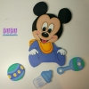 Mickey en madera pared