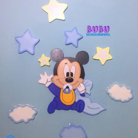 Silueta en madera Mickey