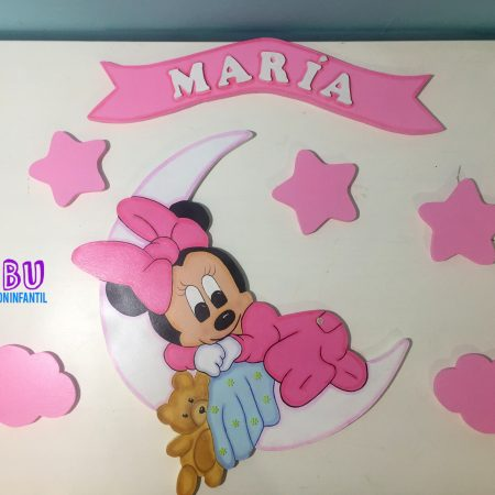 Minnie par apared en madera