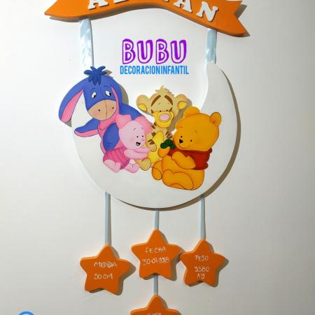 Decoracion en madera Winnie the Pooh