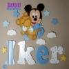 Silueta en madera de Mickey