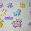 Siluetas de unicornios