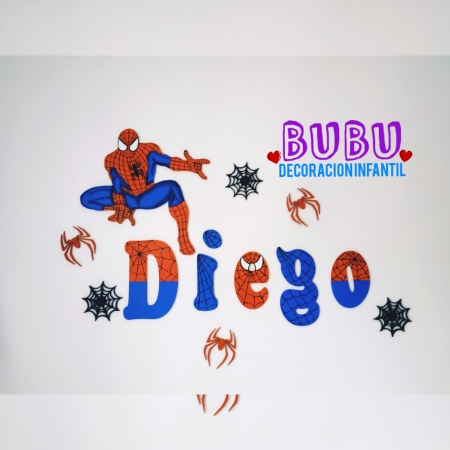 Decoración para pared con diseño de Spiderman