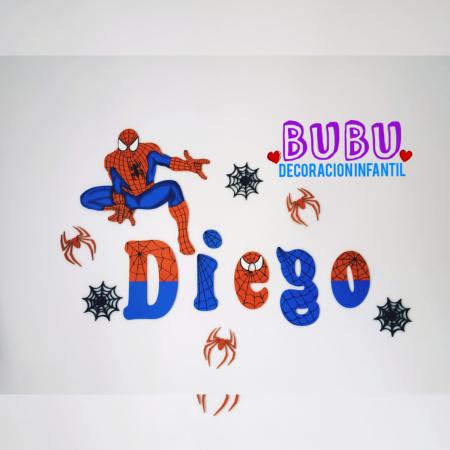 Decoración para pared con diseño de Spiderman
